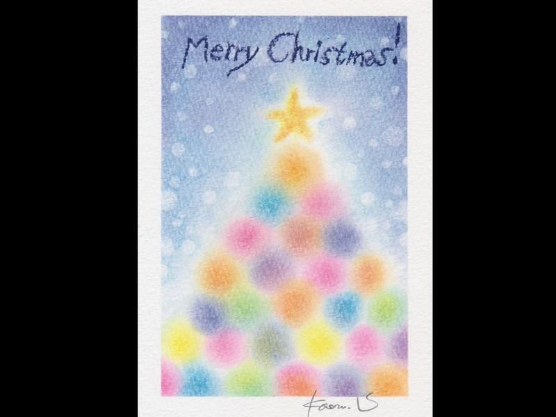 パステルで描くクリスマスの世界☆3色パステルアートで癒しの時間の画像