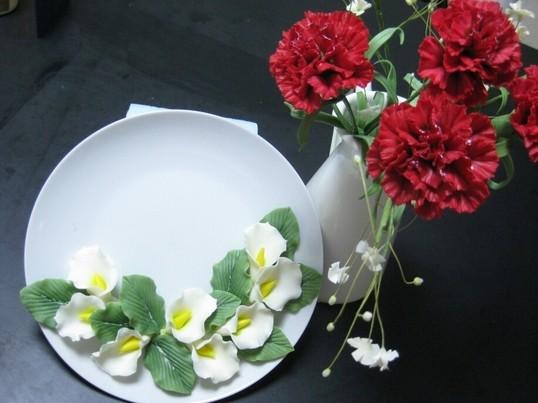 樹脂粘土でリアルなお花・オリジナルアクセサリー・飾り物等を作ろうの画像