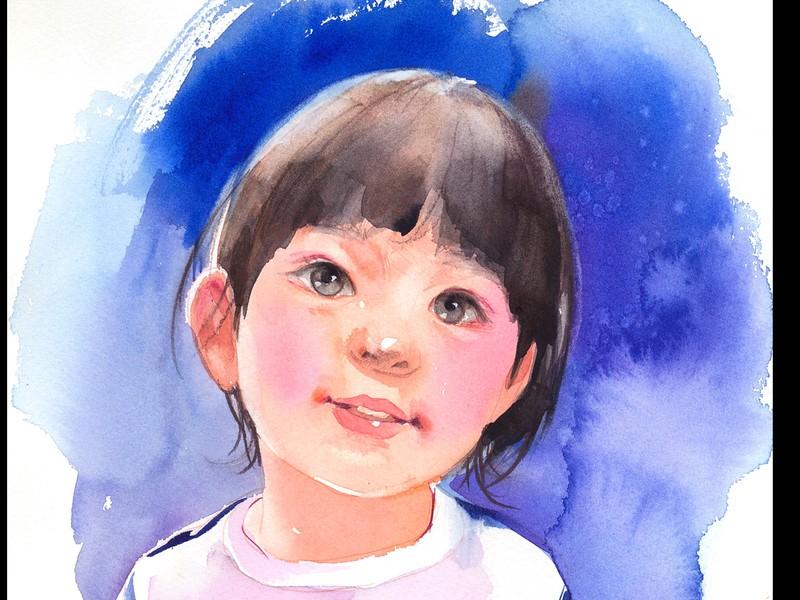 水彩画簡単人物講座の画像