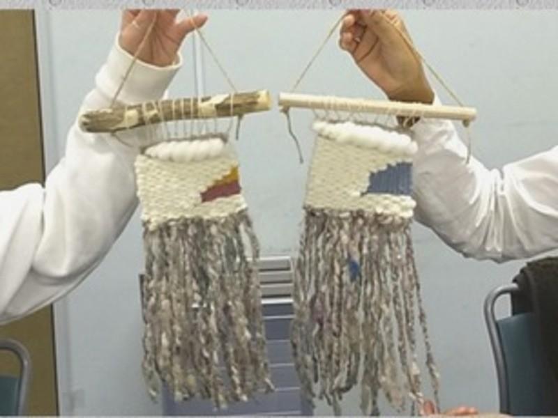 北欧好きさんのためのフワフワ糸で紡ぐタペストリー、織りませんか?の画像