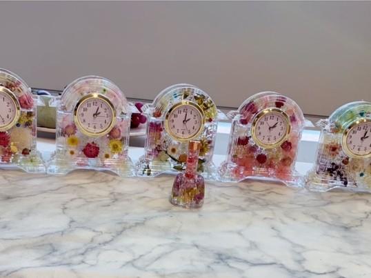 【田端駅徒歩10分】お花のクロック作り♪の画像