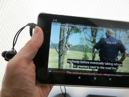 英語モードに切り替えて、英語ニュースをシャドーイングの画像