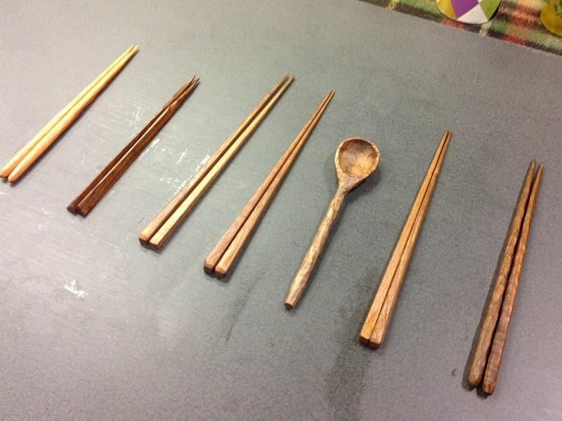 木工講座Ⓑ【あなただけの箸やカトラリーをつくる】の画像