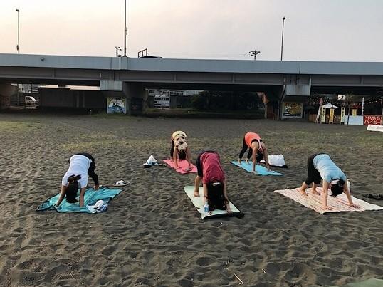 海ヨガ/小田原/小田原御幸の浜 の画像