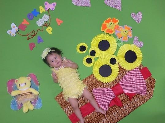赤ちゃんとママで楽しむ おひるねアートの画像