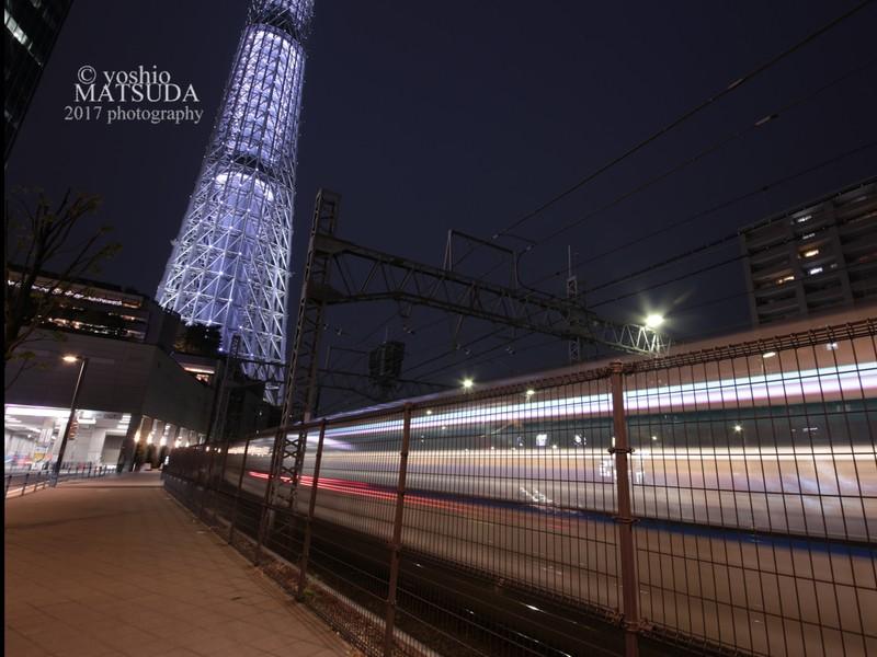 東京スカイツリー夜景撮影。超初心者向け夜景撮影の画像