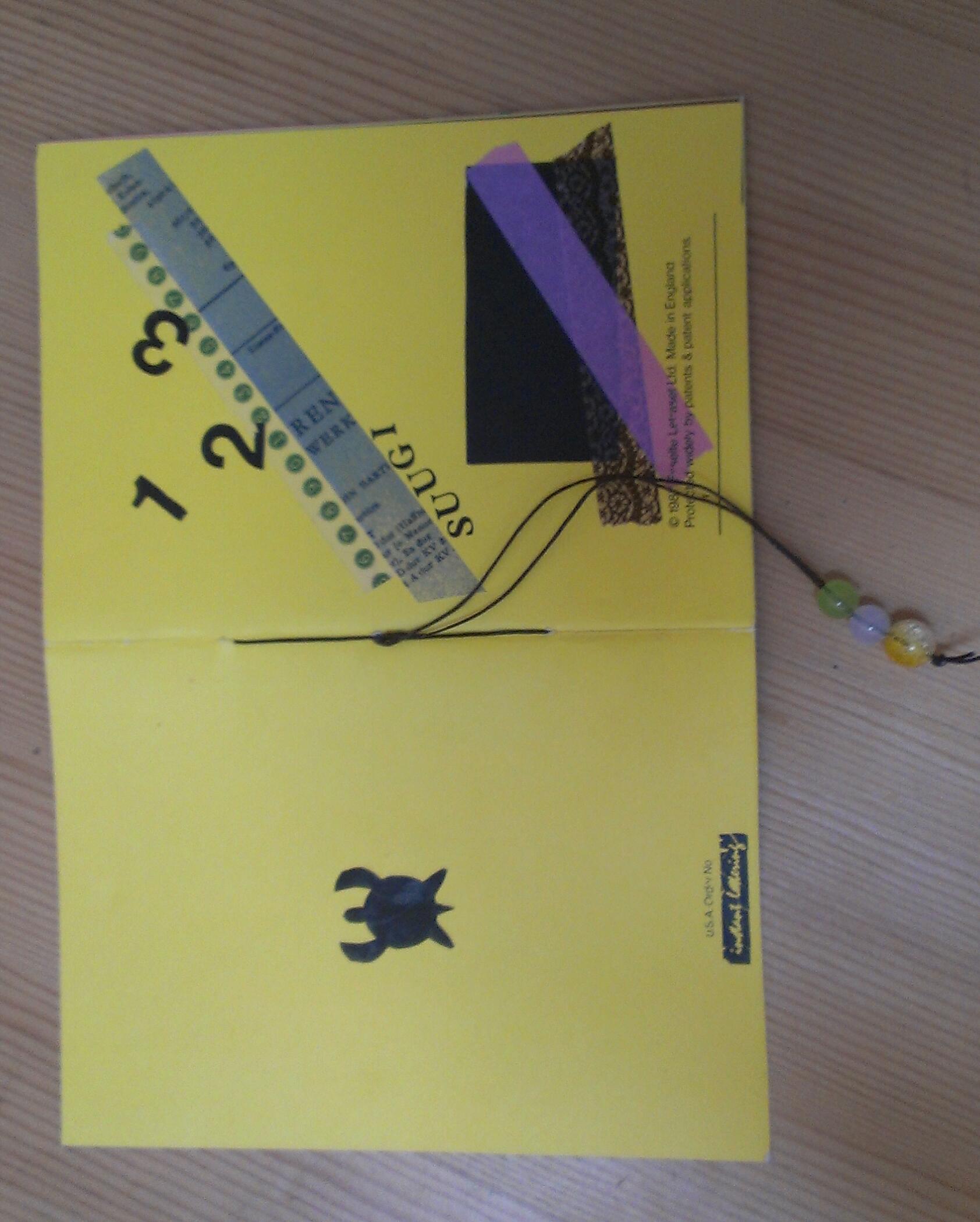 ペーパークラフト講座〜数字と形の絵本〜