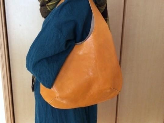 【レザークラフト】好きな色の一枚革で作るバッグ♫@二子玉川の画像