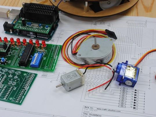 3種類のモーター制御入門(電子工作基礎編)の画像