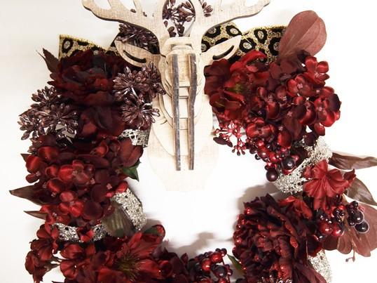 BUDフラワーレッスン2016年11月 トナカイが奏でるクリスマスの画像