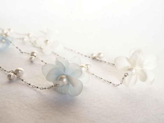 コットンパールとお花~ペアアクセサリーを作ろう~の画像