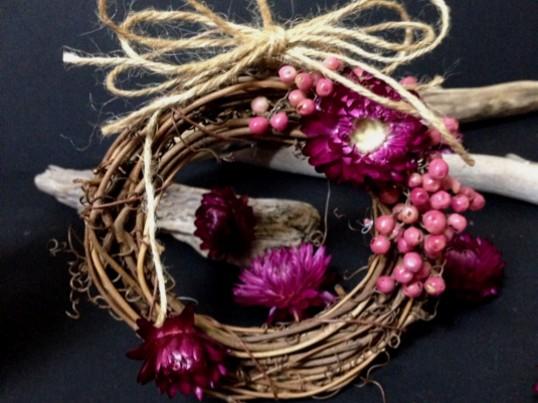 《初心者の方大歓迎》英語でお花のリース手作りワークショップ!の画像