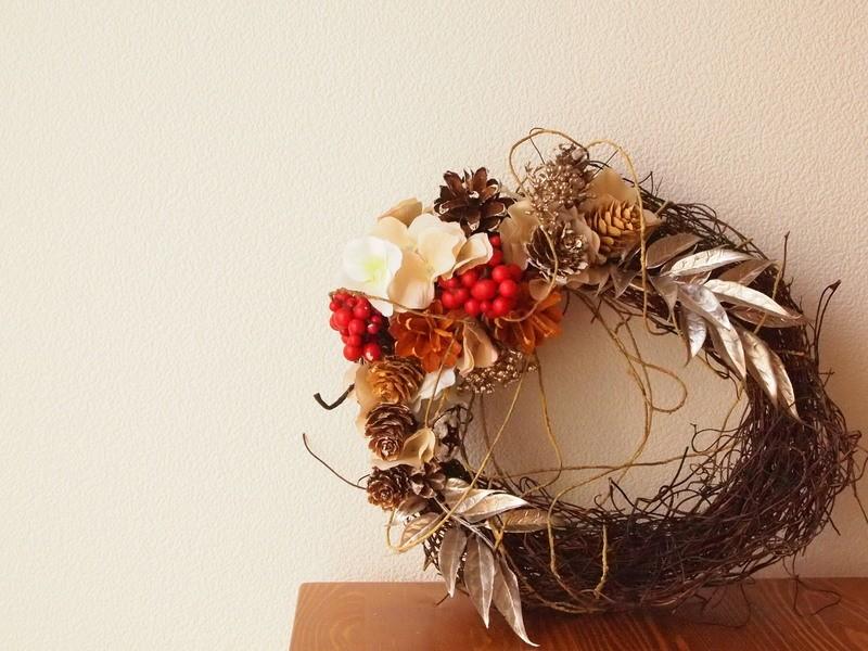 季節限定☆ナチュラルなクリスマスリースを作ろう☆の画像