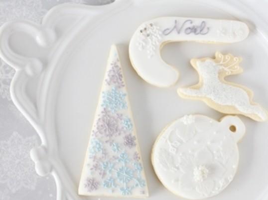 講師資格取得も可☆アイシングクッキーwhiteクリスマスの画像
