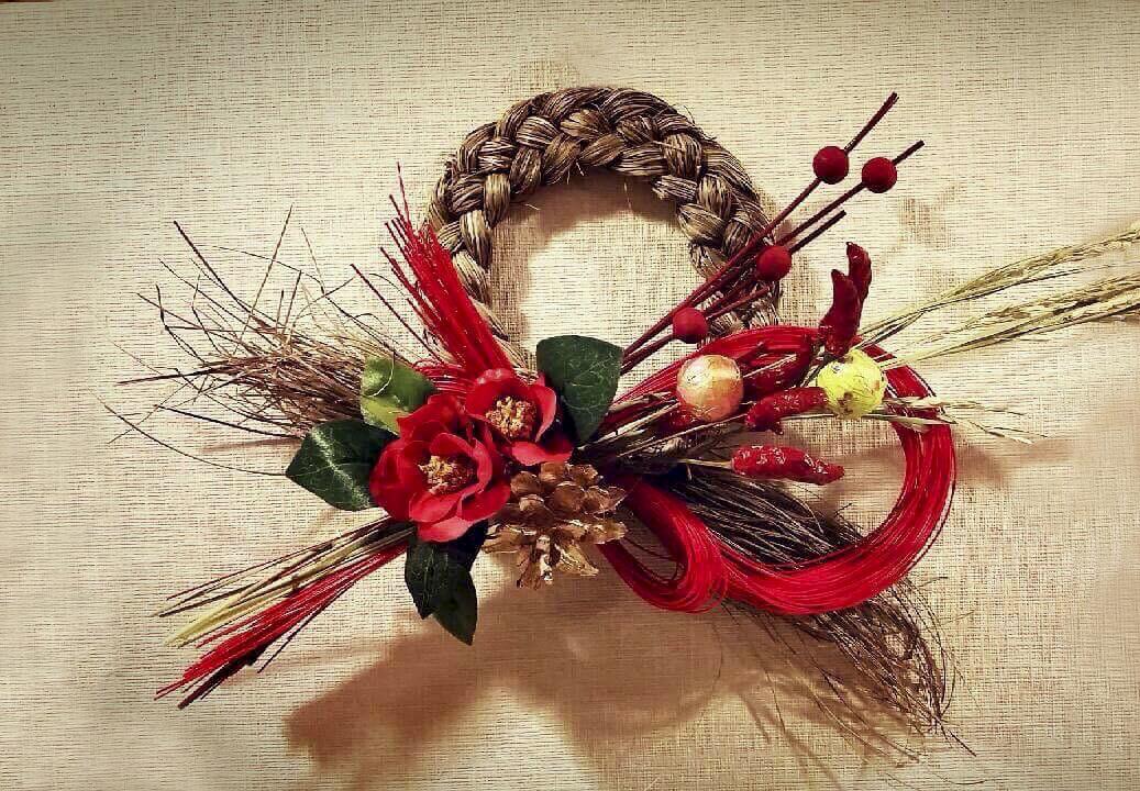 【初心者歓迎】フラワーレッスン お正月飾り、しめ縄リース作り