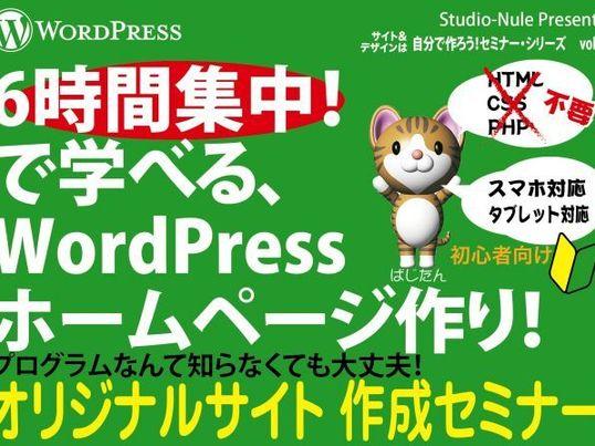 1日で学べるホームページ制作 初心者向けWordPressレッスンの画像