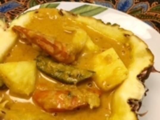 マレーシア料理を作ってみよう!! 海老とパイナップルカレー!!の画像