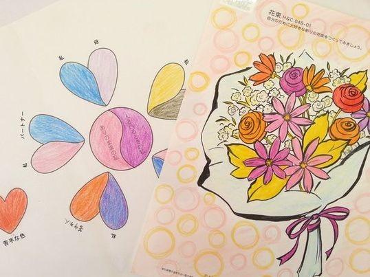 クレヨン色鉛筆で!配色で人間関係分析・色彩心理ワークショップ初級Bの画像