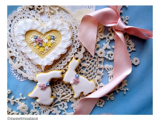 【ミドルクラス】オーガニックアイシングクッキー・ホワイトバニーの画像