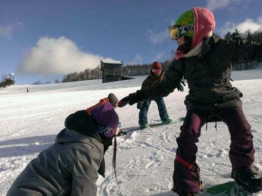 スノーボード上達の為のアドバイス形式レッスンの画像