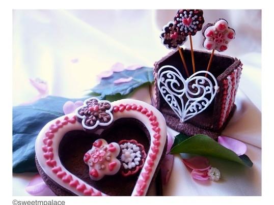 【ミドルクラス】オーガニックアイシングクッキー・バレンタインの画像