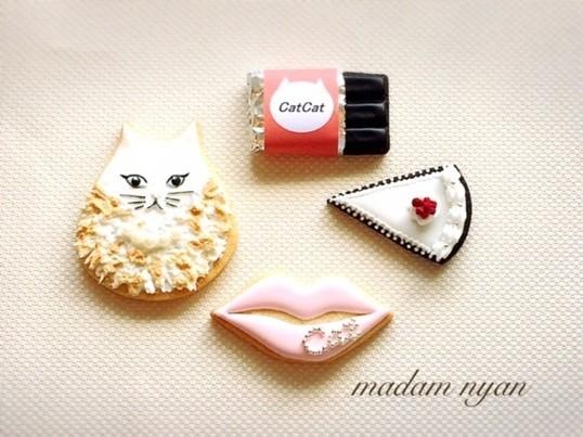 アイシングクッキー マダムニャンの画像