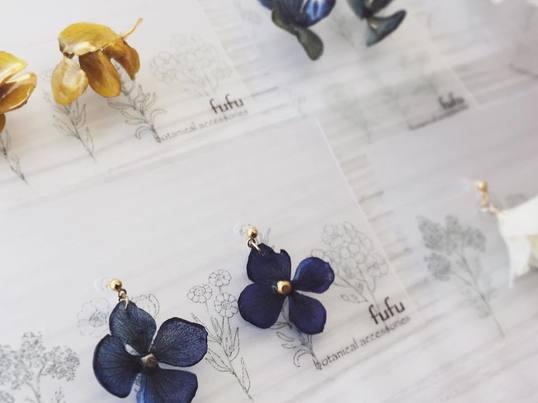 「紫陽花アクセサリー制作」WSの画像