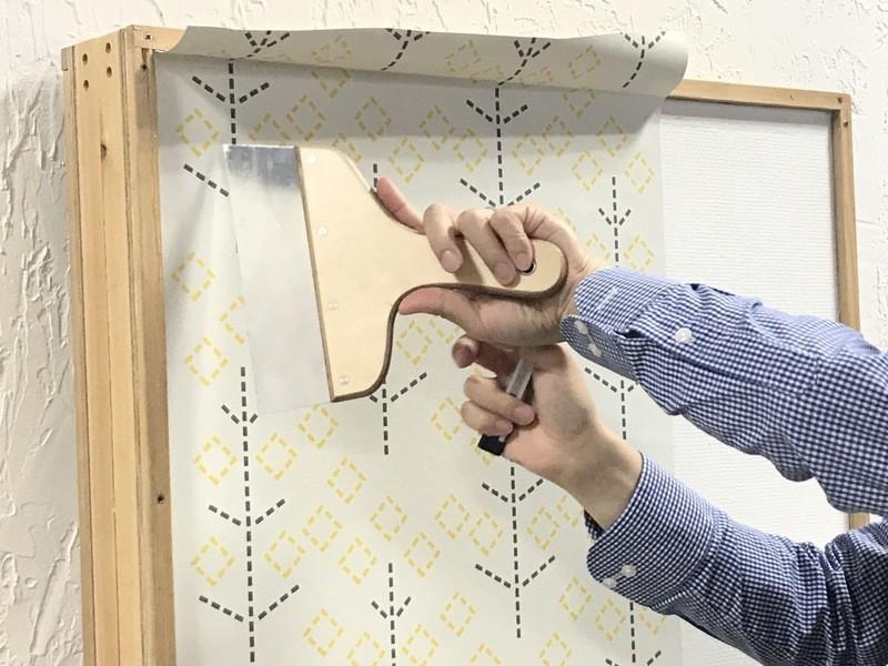 【壁のリノベーション】賃貸でもOK!!フリース壁紙の貼り方講座の画像