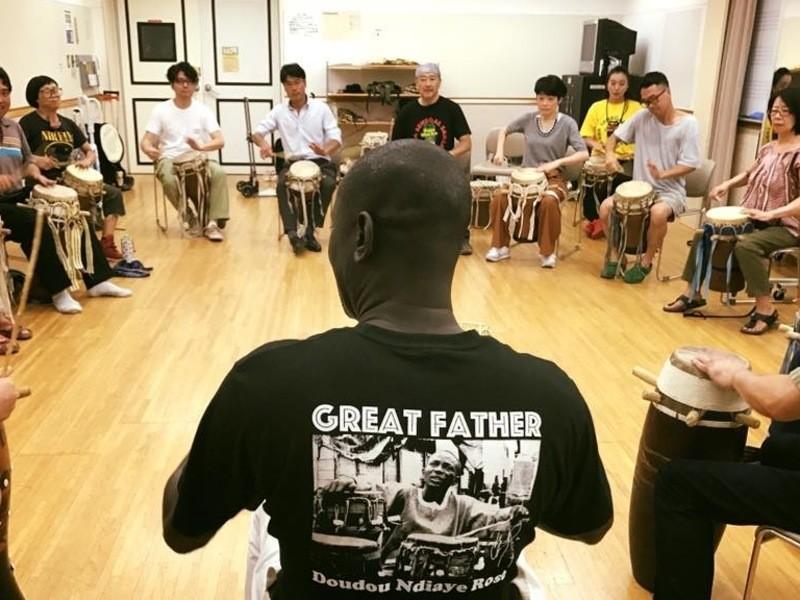 (浜松町)アフリカンレストランでアフリカの太鼓を叩こうの会の画像