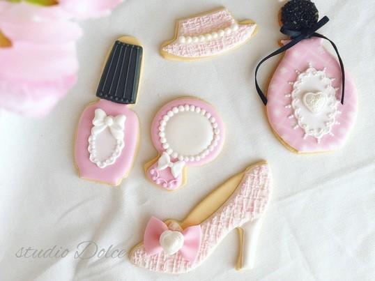 春のアイシングクッキー!Spring Tweeds Fasionの画像