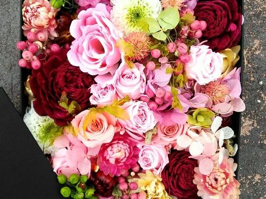 お花たっぷりBox Flower(L)手作りレッスンの画像