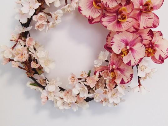 BUDフラワーレッスン「春香る桜のリース 」追加開講の画像
