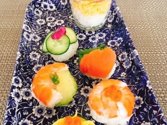 簡単かわいい手まり寿司&サーモンローズ&練り切りワークショップの画像