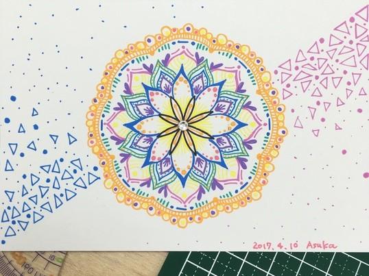親子で描く 曼荼羅アートワークショップの画像