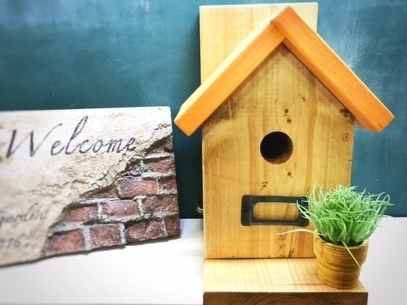 【初心者・親子向け教室】鳥の巣箱型小物入れの画像