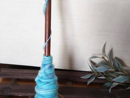 体験レッスン*スピンドルで紡ぐオリジナルの糸紡ぎの画像