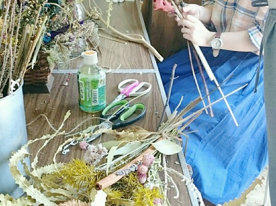 DIY教室 選んで作れる!お洒落で珍しいこだわりのスワッグ作り の画像