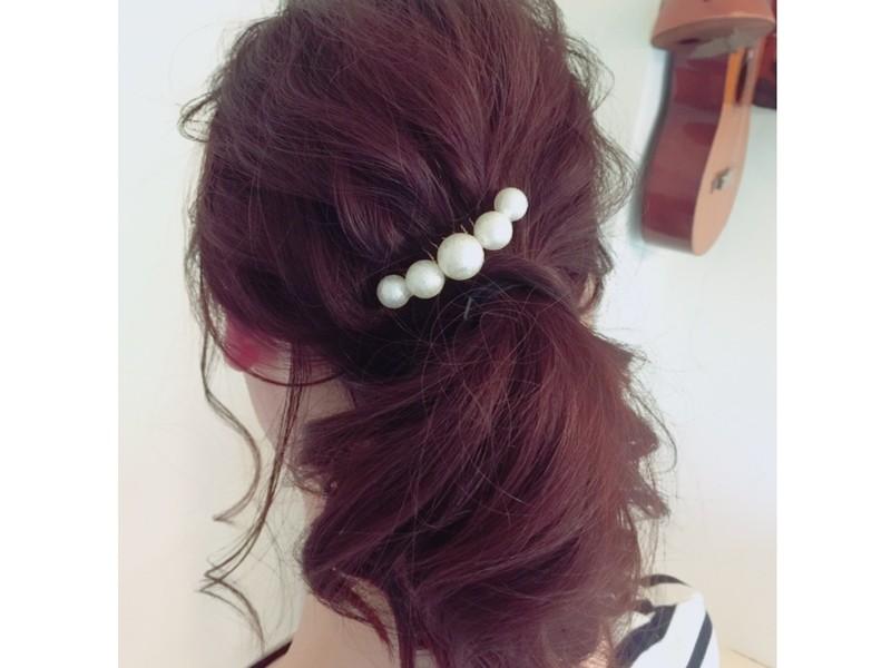 夏のこなれ巻き髪ヘアアレンジ♡どうにかアイロンで髪は巻ける人中級者の画像