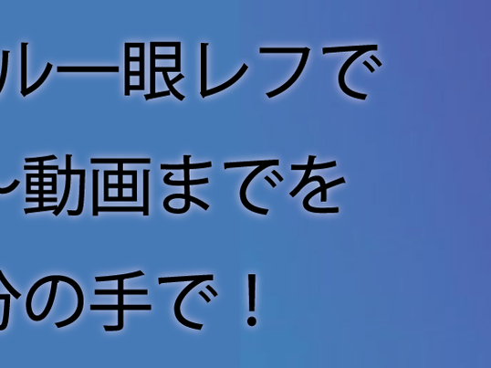 【名古屋】デジタル一眼レフで撮影~動画までを自分の手で!<全2回>の画像