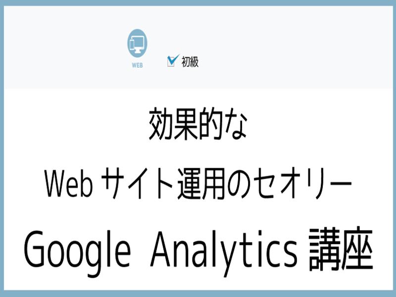 効果的なWebサイト運用はじめてのGoogle Analyticsの画像