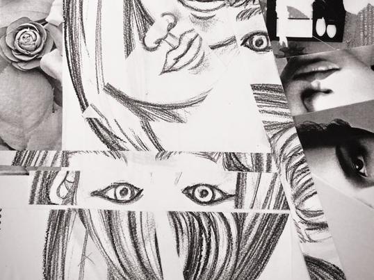 【初心者向けコラージュ】自画像でアートを作ろう!の画像