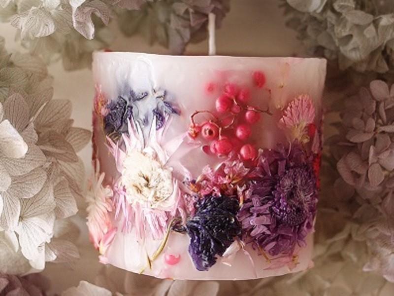 花キャンドルワークショップの画像