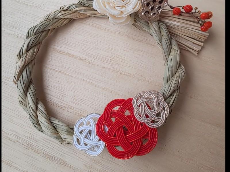 日本伝統工芸!水引の基本の結び方♪水引細工でつくるお正月飾りの画像