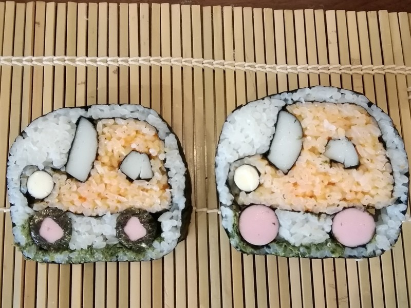 車の巻き寿司レッスンの画像