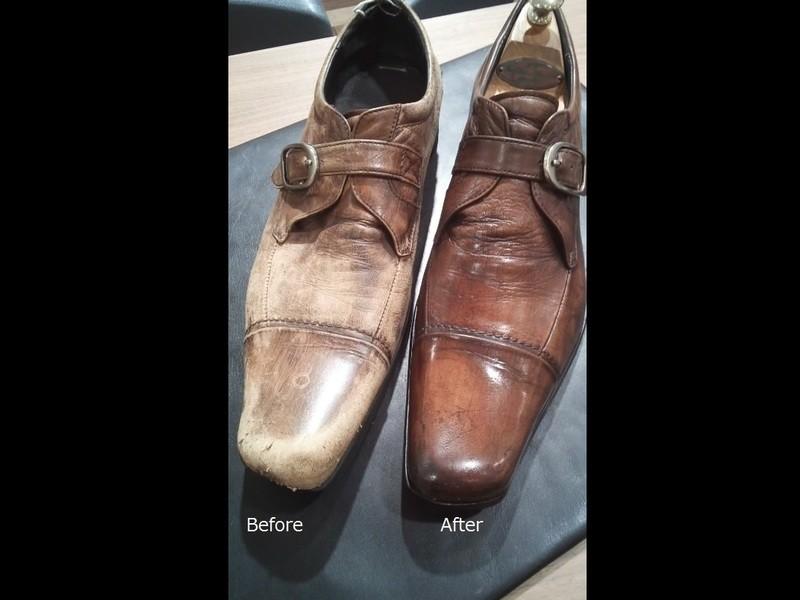 靴を磨いて男も磨きましょう!!の画像