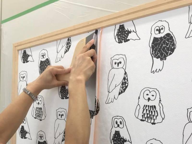 【開催終了】壁紙ワークショップ応用編 国産の柄物壁紙を貼ろう!の画像