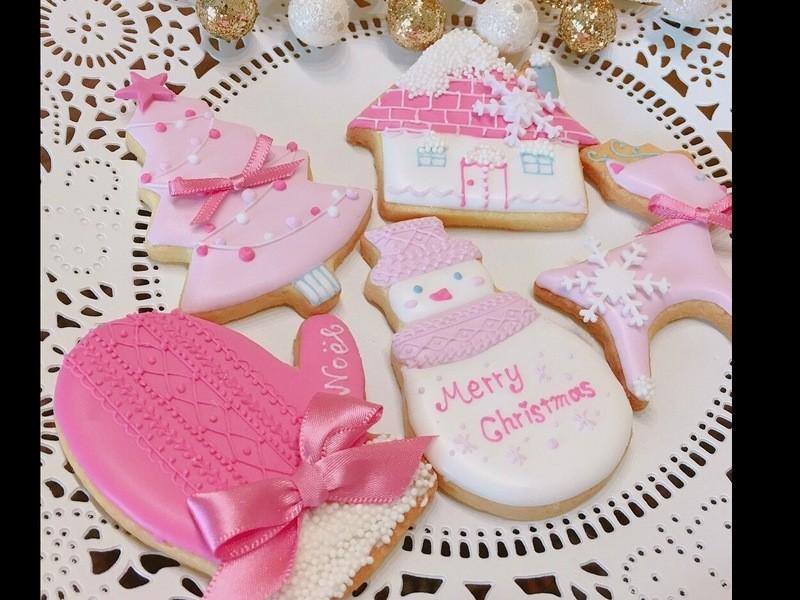11月限定:ピンクで彩るクリスマスアイシングクッキー♡レッスンの画像