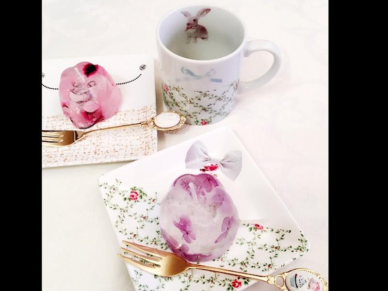 簡単に作れる♪ポーセラーツでマグカップ&角皿セットの画像
