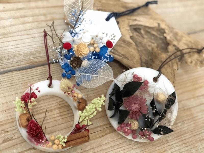 【灯さない飾るキャンドル】3種のボタニカルアロマサシェをつくろうの画像