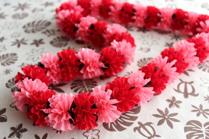 ☆Mini Carnation☆のんびりリボンレイを楽しみましょう